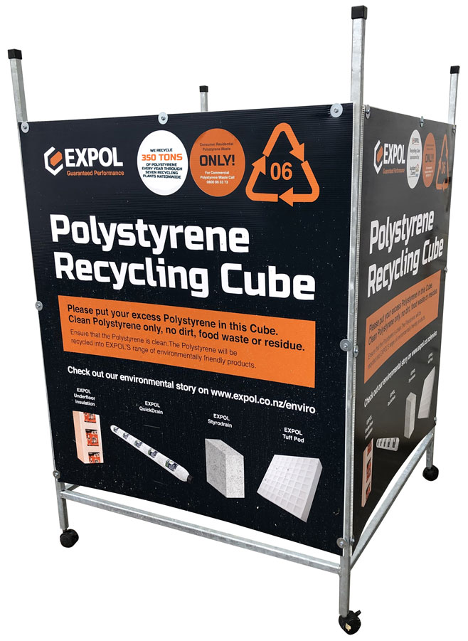 EXPOL Polystyrene Recycling Cube
